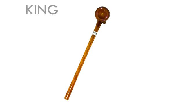 Ancient Amber Gandolf Pipe (size: King)