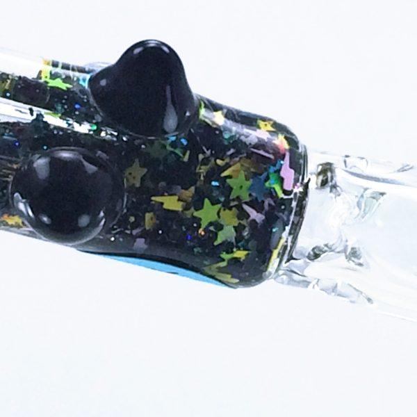 black galaxy bat 1 glass chillum