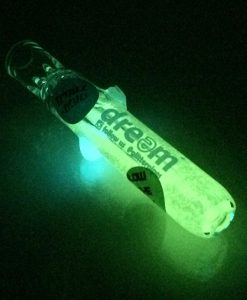 glow glitter bat 1 glass chillum