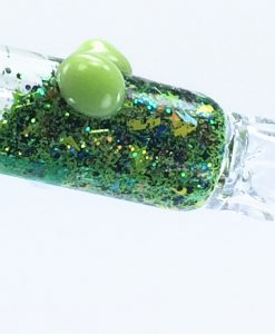 green galaxy bat 1 glass chillum