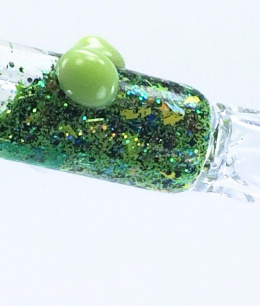green galaxy bat 1 glass chillum