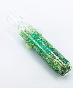 green galaxy bat 2 glass chillum