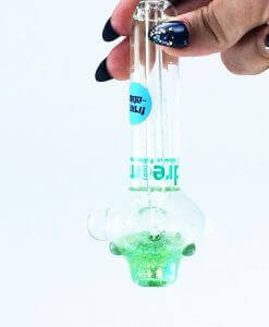 green glitter pipe 1 large liquid pipes