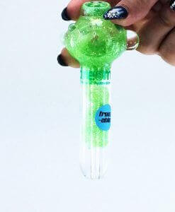 green glitter pipe 2 large liquid pipes