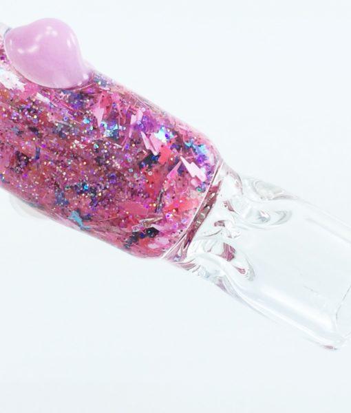 pink galaxy bat 1 glass chillum
