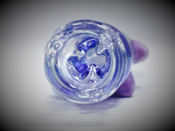 purple glitter bat 4 glass chillum