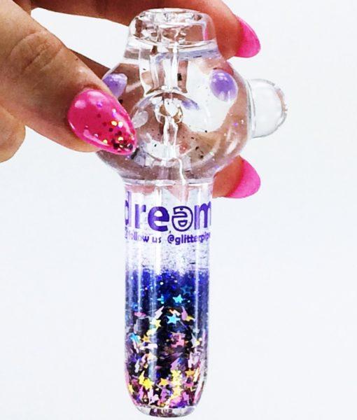 purple galaxy pipe 3 small liquid pipes